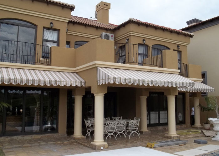 Canvas Wedge Awnings